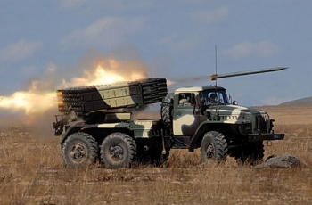 "БМ-21 ""Град"" (9К51) - реактивная система залпового огня калибр 122-мм"
