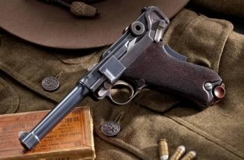 Пистолет Люгера Р.08 Парабеллум патрон калибр 9 мм. Устройство