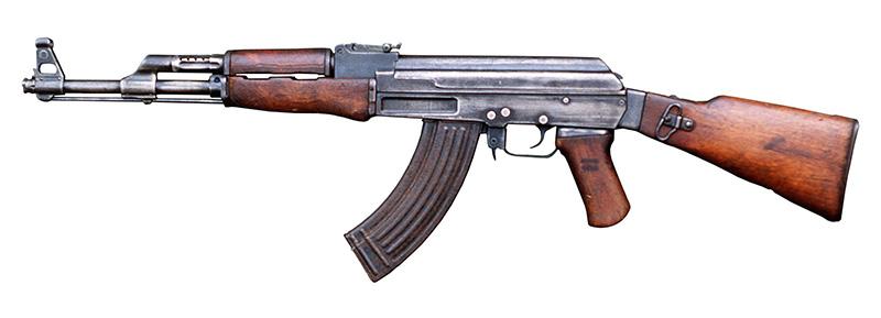 АК-47 - автомат Калашникова калибр 7,62-мм