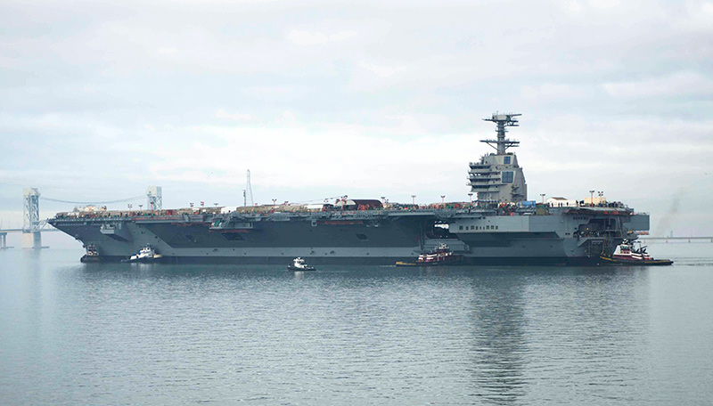 9 USS Gerald R. Ford CVN 78 on the James River in 2013