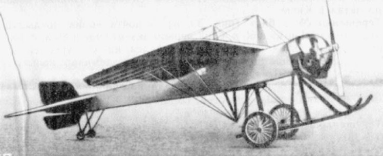 Моноплан Терещенко и Зембинского - опытный самолет