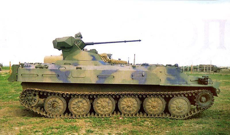 Объект 6МБ — вариант МТ-ЛБМ с модулем МБ2, включающий в себя 30-мм пушку 2А42.
