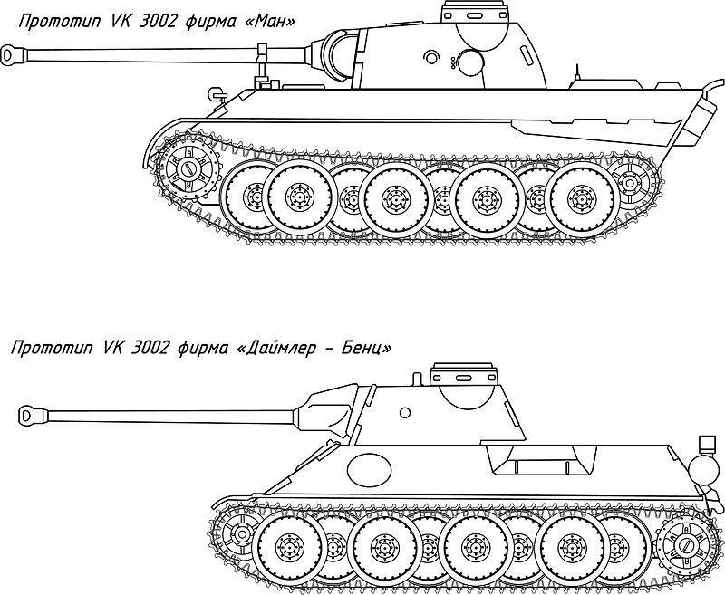 Comparison of VK 3002 proposals