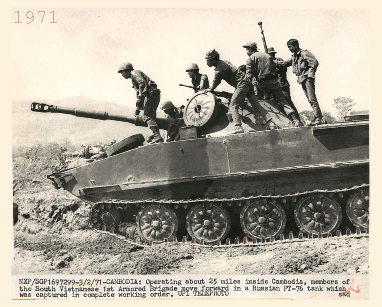 PT-76 operating about 25 miles inside Cambodia
