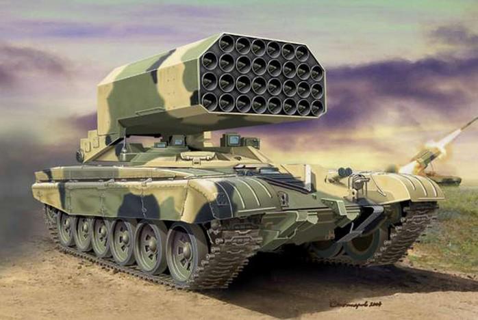 """ТОС-1 """"Буратино"""" (ТОС-1А «Солнцепек») тяжелая огнеметная система"""