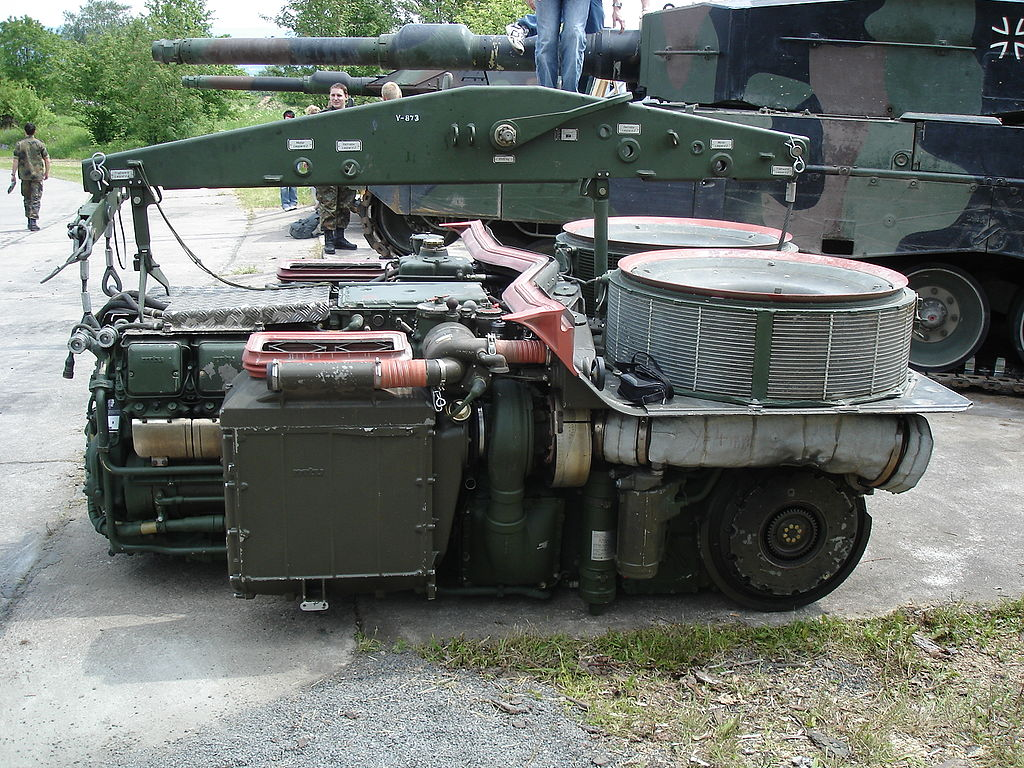 The Leopard 2's MB 873 Ka-501 V12 engine