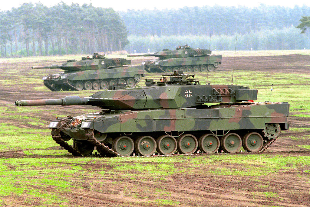 Leopard 2A5s of the German Army